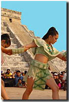 chichen itza dancers